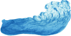 морская волна нарисованная красками