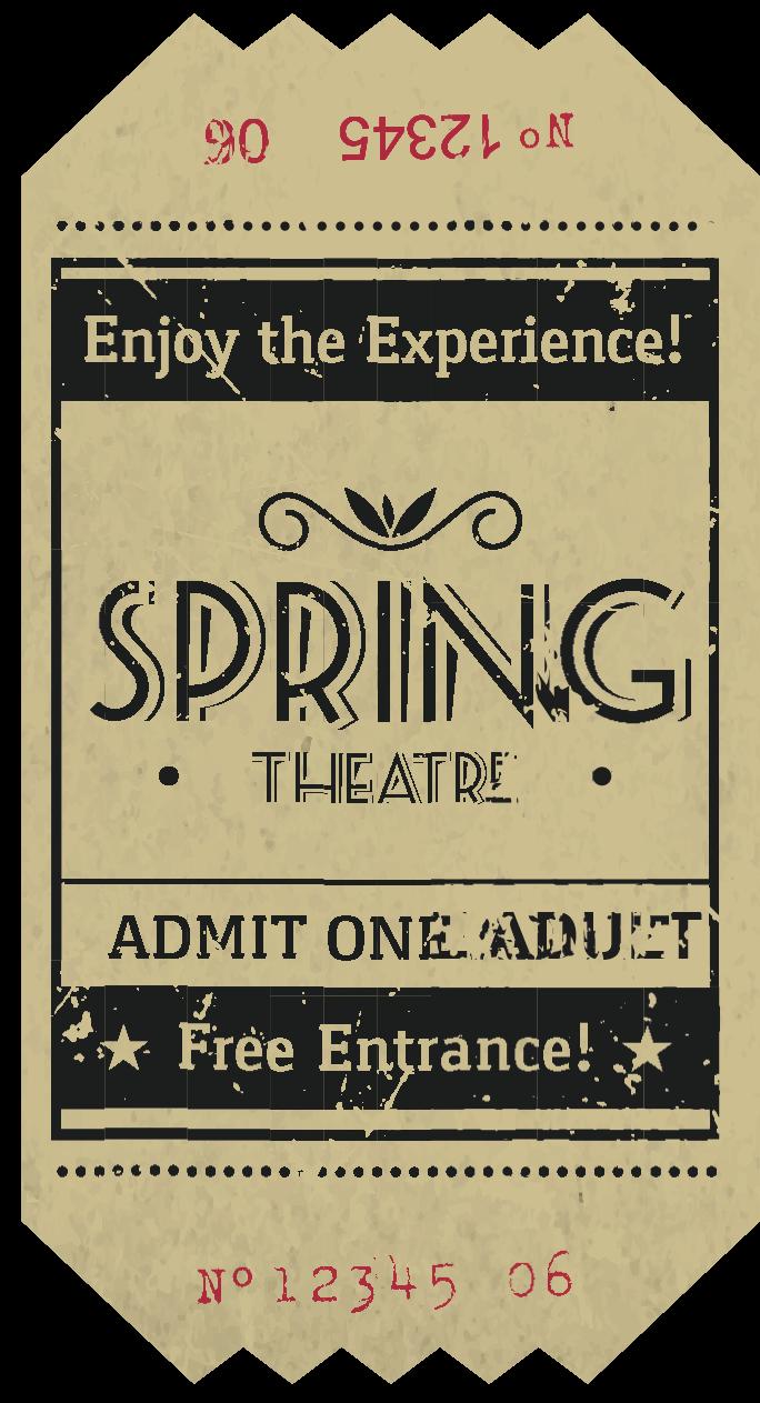 Билет на театральный спектакль